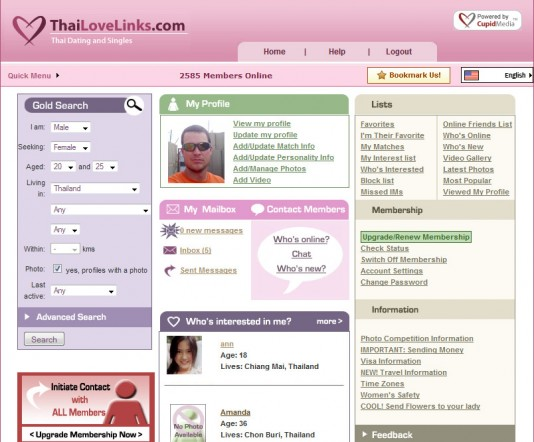 Thailovelinks.com Homepage - on line dating services