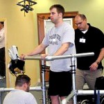 Paralyzed man stand after electrical stimulator implant