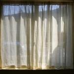 Blinds or curtains to block out sun light