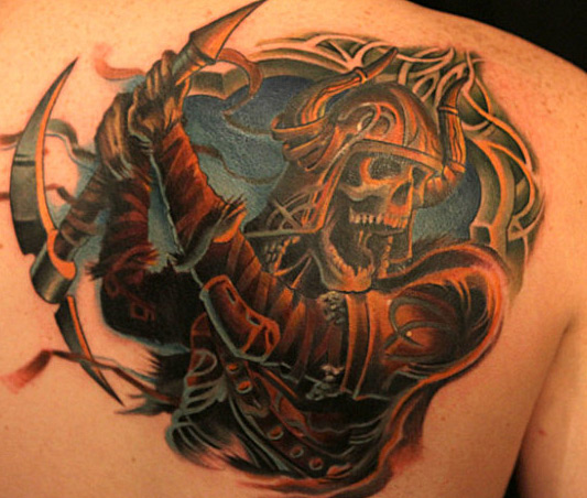 "Tommy's 12 hours Tattoo: ""Bad Ass"" The Grim Reaper"