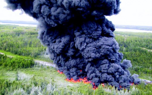 Enbridge Controlled Oil Spill Burn
