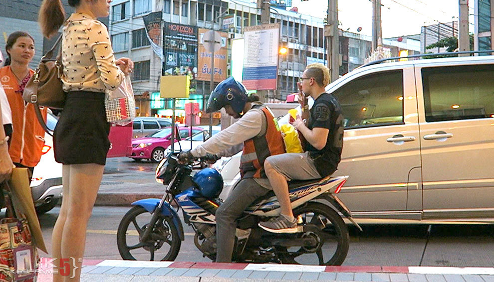 Motorbike / scooter taxi in Thailand
