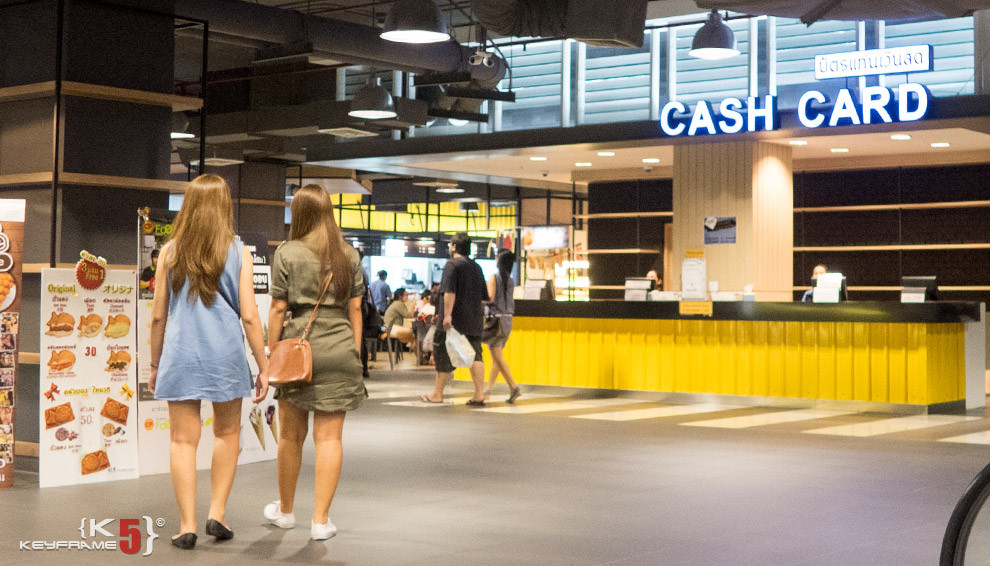 Get your cash card at Union Mall Thai style food court