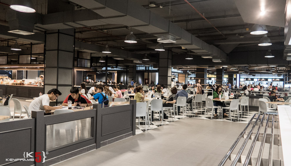 Lower level food court at Union Mall