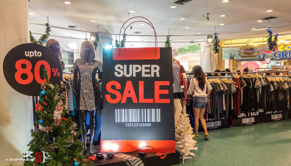 Super Sale - up to 80% off at Union Mall, Bangkok Thailand