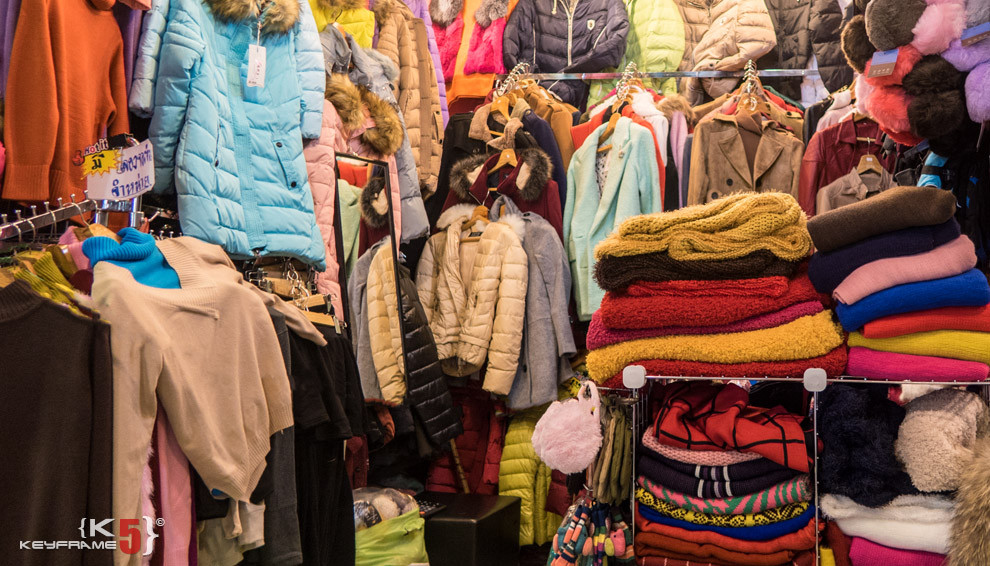 Winter clothing on sale at Union Mall