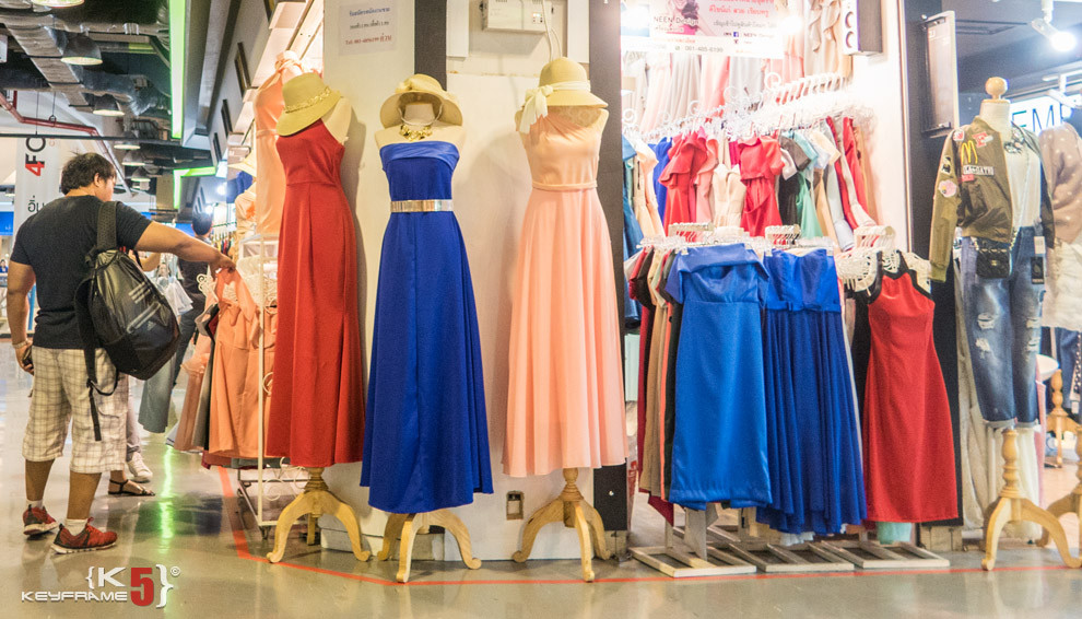 Women formal dress at Union Mall in Bangkok Thailand