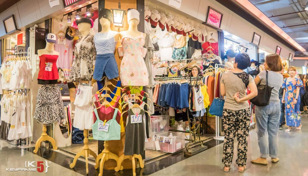 Shirts and tops at , Bangkok Thailand