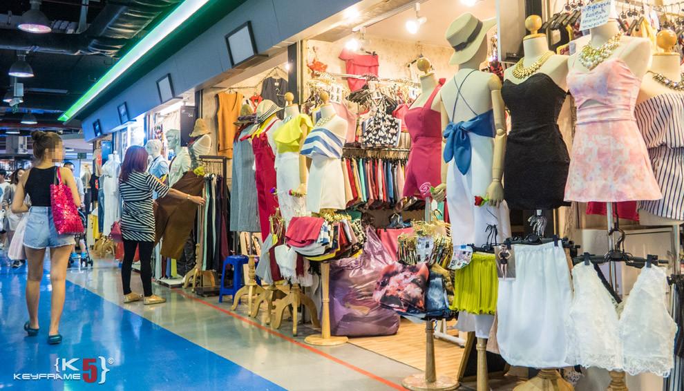 Hat, tops, shorts at Union Mall, Bangkok Thailand