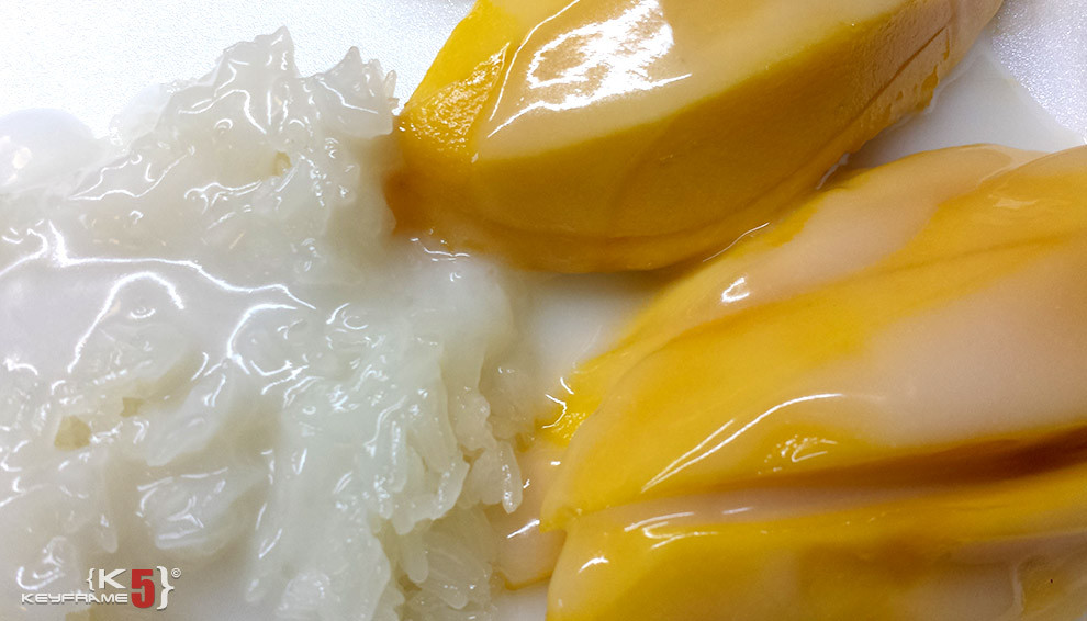 ฿49 THB - Thai dessert - mango and sticky rice