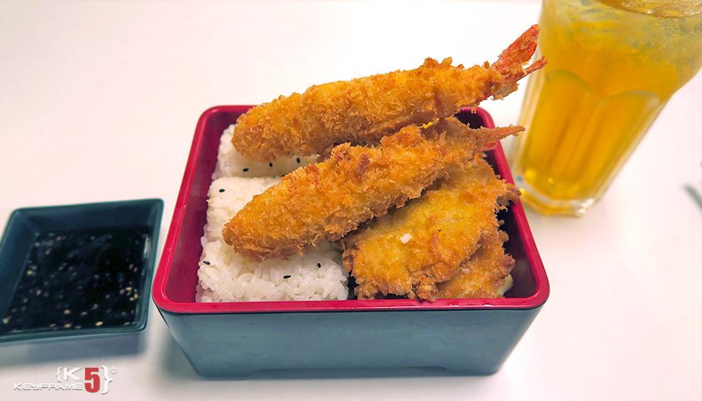 ฿240 THB - Japanese shrimp bento