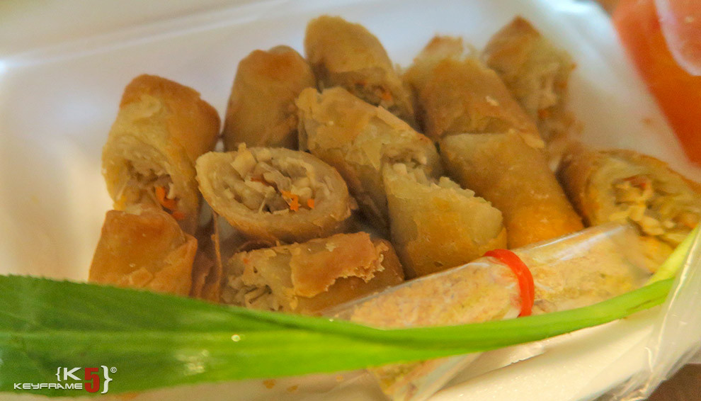 ฿50 THB - Deep fired egg rolls