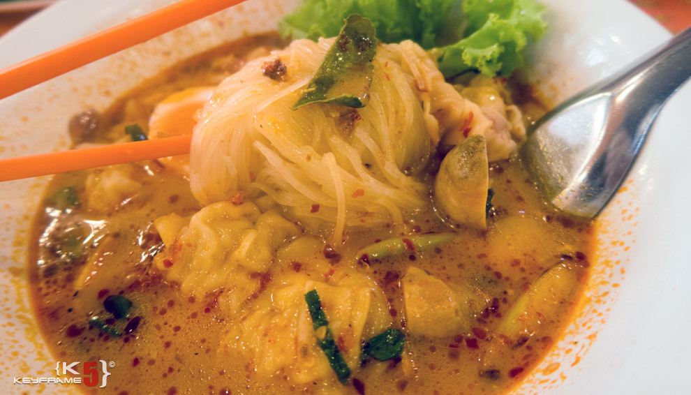 ฿80 THB - Tam yum not and spicy noodles in Bangkok