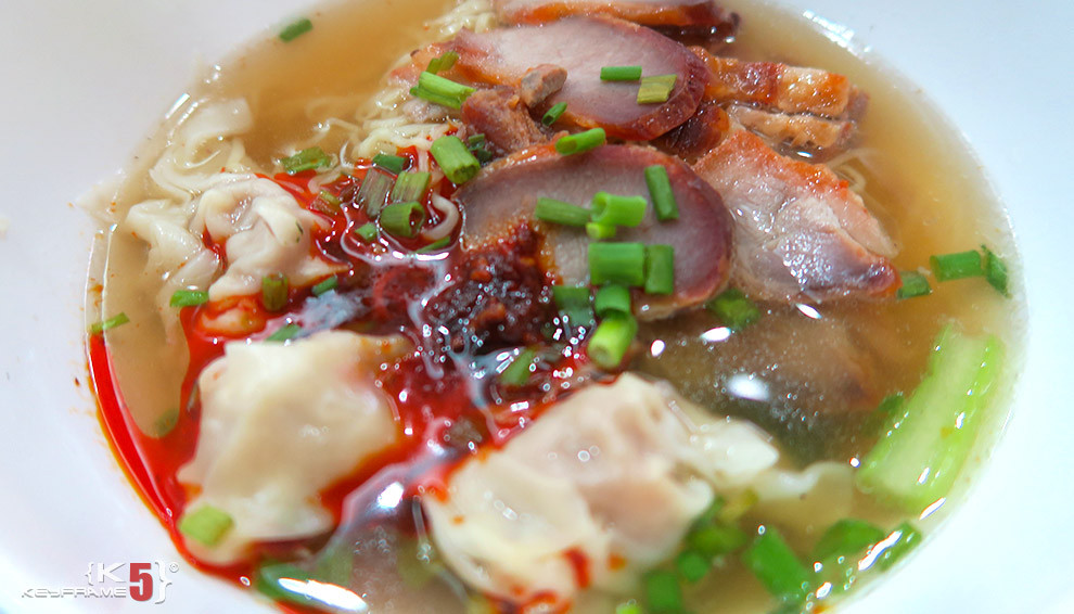 ฿50 THB - Chinese wonton noodle soup