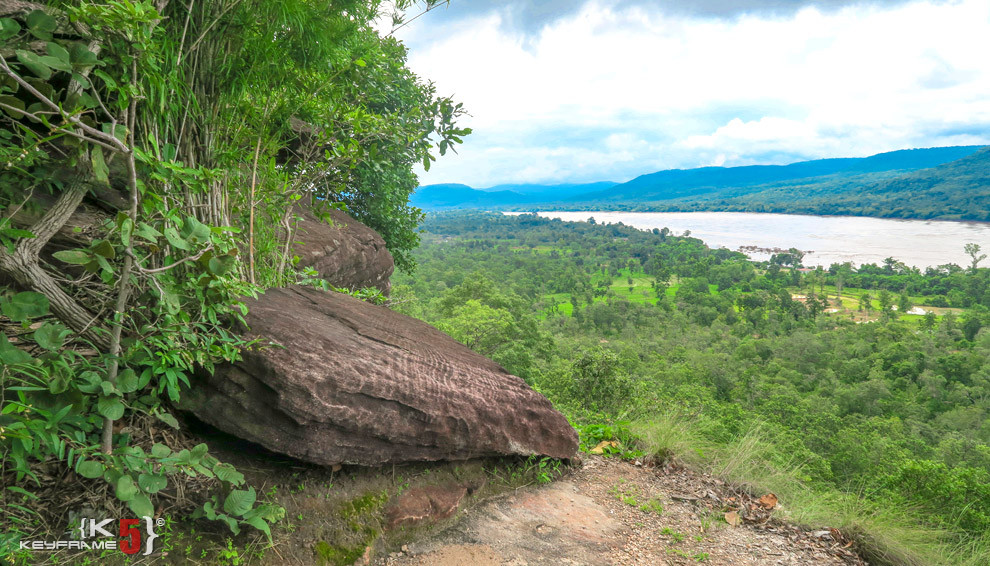 Looking over the Mekhong River