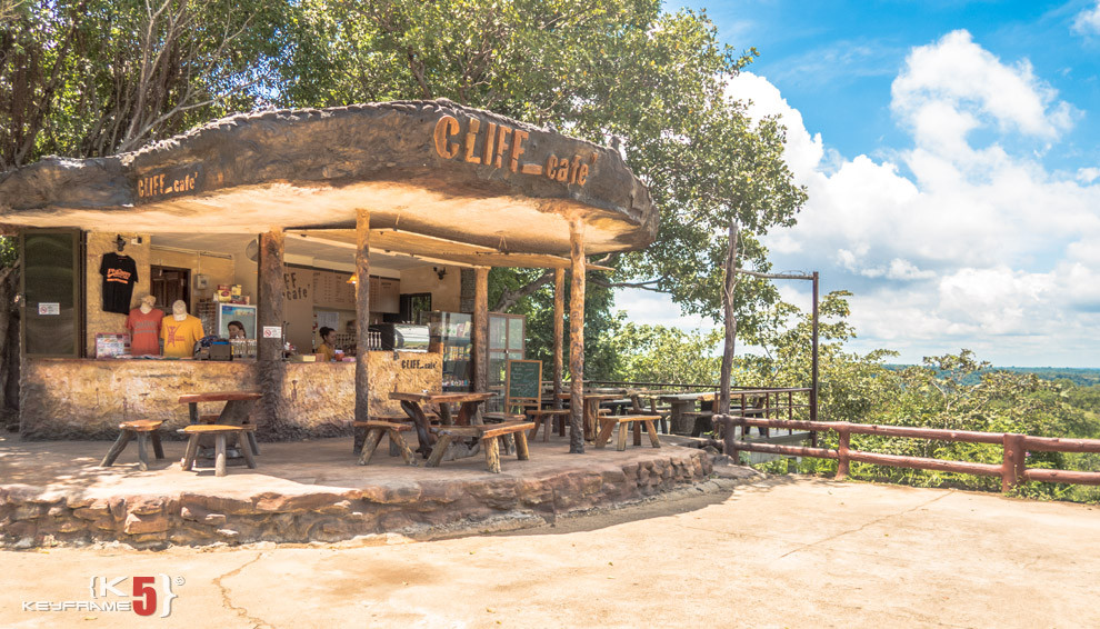 Cliff Cafe - the only cafe in Pha Taem