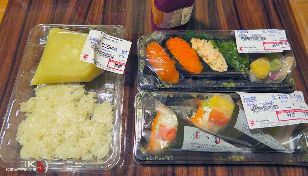 ฿163 THB - Sushi and durain