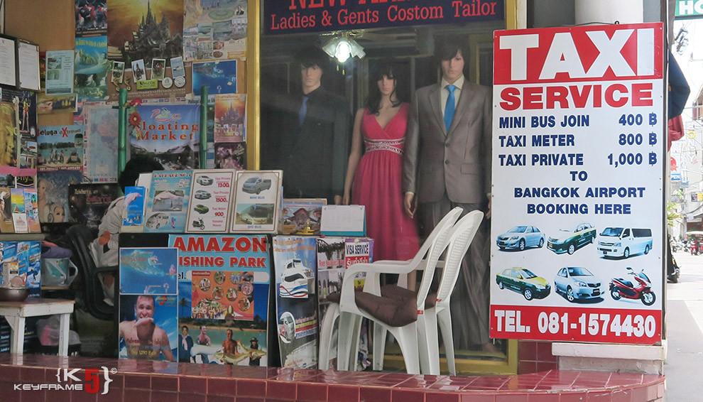 Taxi, mini van service in Pattaya