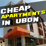 Low budget serviced and non serviced apartments in Ubon (Isaan) Thailand