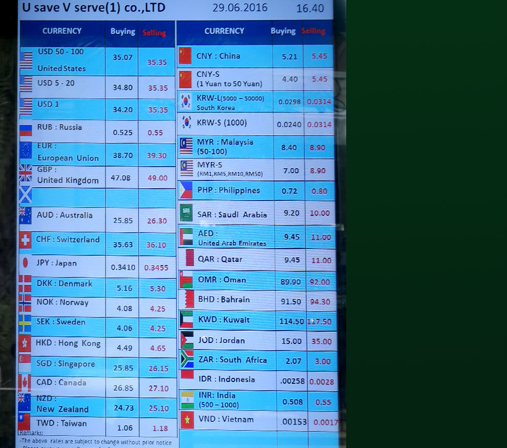 Forex airport rates