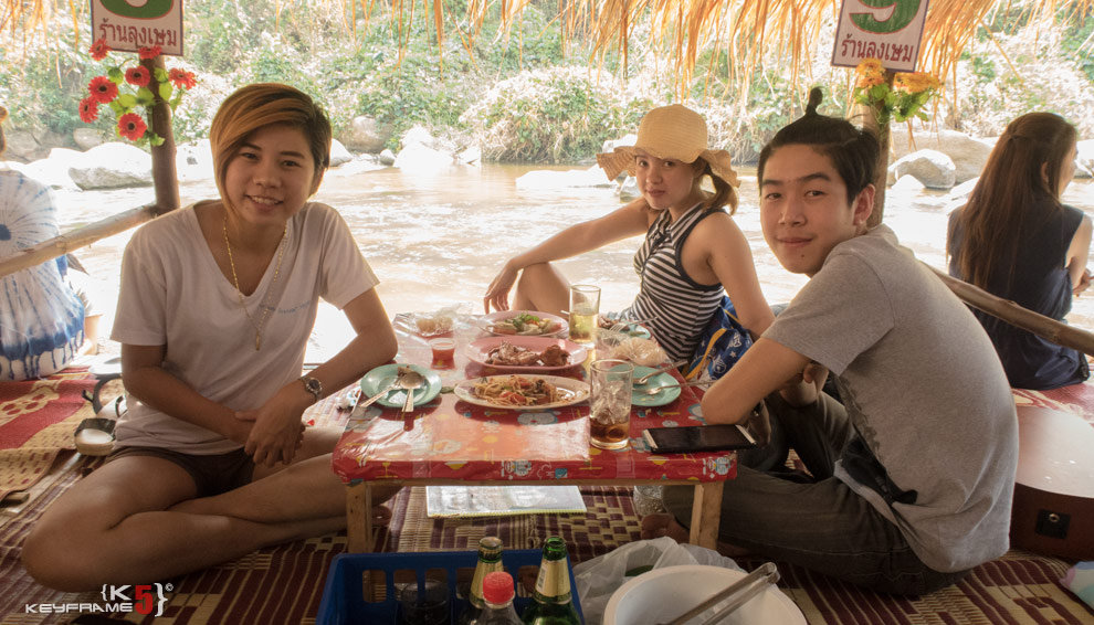 Local Thai friends at Mae Taeng River in Chiang Mai