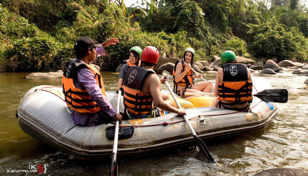 Water Rafting on Mae Taeng River in Chiang Mai
