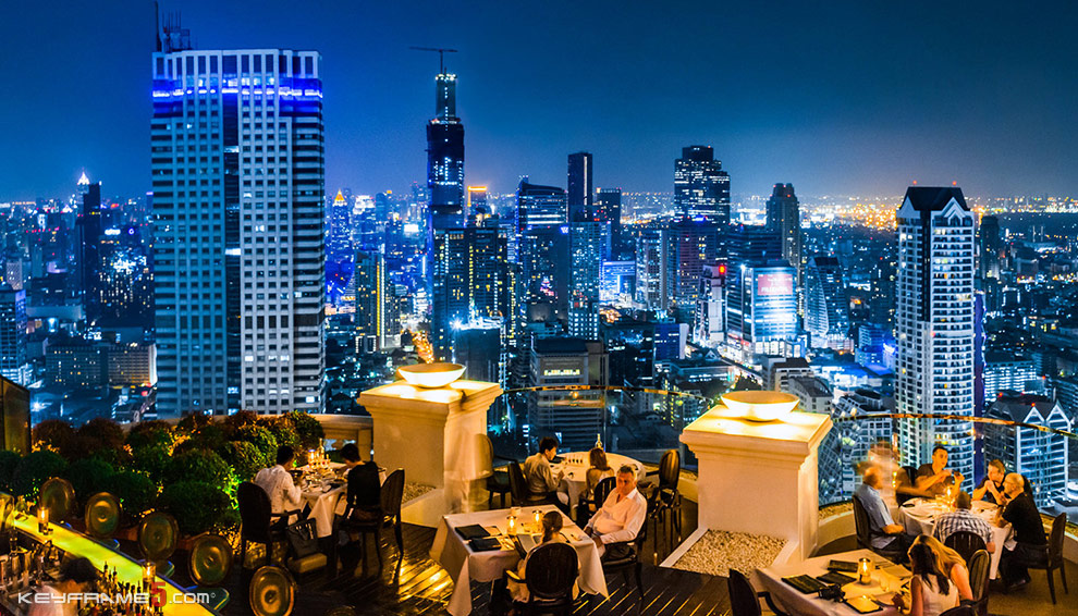 Nightlife, rooftop bars in Bangkok