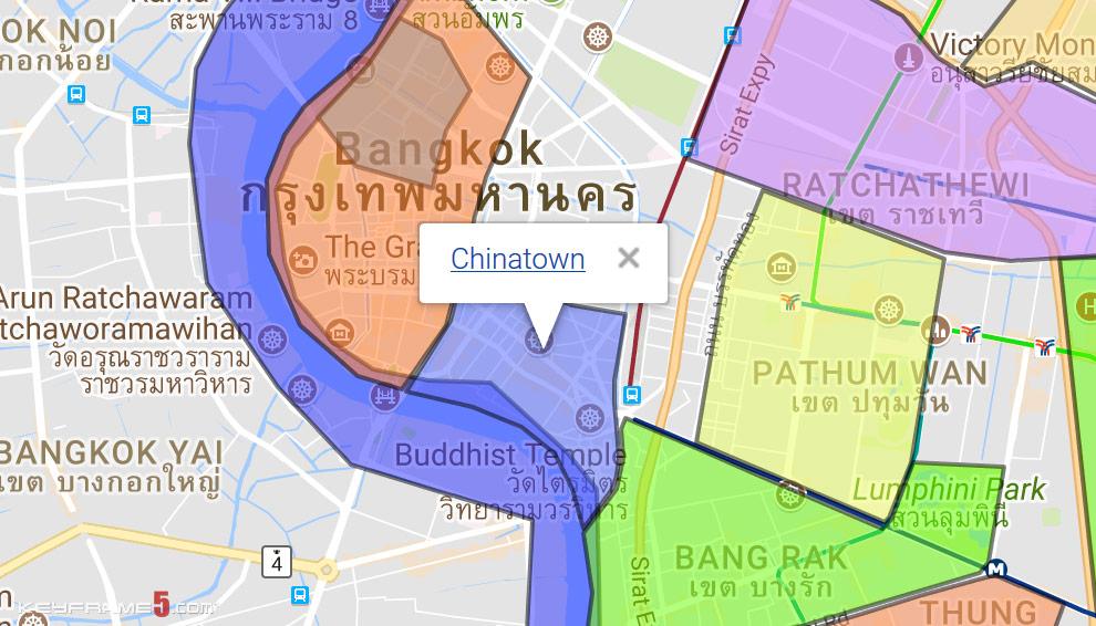 Chinatown Bangkok Map