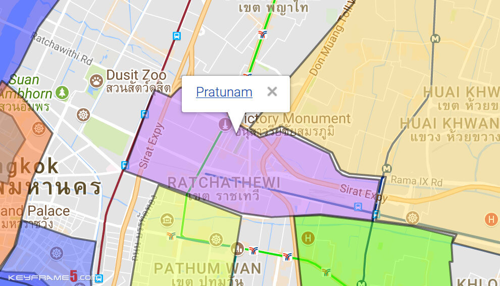 Pratunam Map