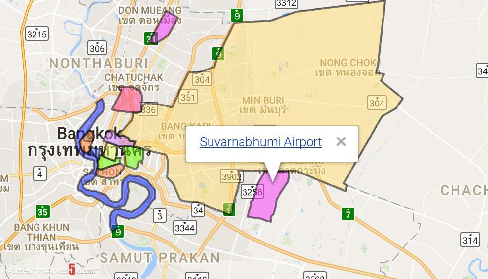Suvarnabhumi Airport Map