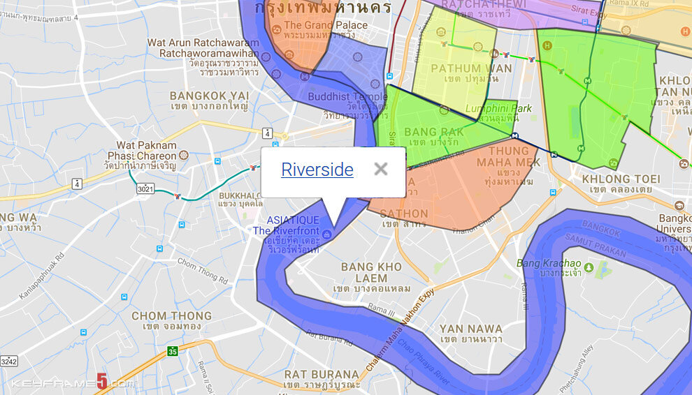 Riverside Bangkok Map