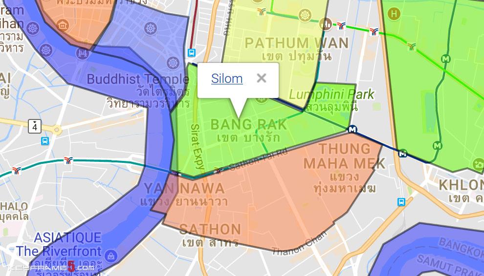 Silom Map
