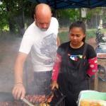 Foreigner Deported: Expat in Thailand Helps Thai Wife Selling BBQ