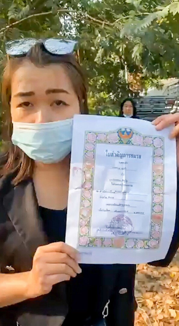 Thailand marriage certificate