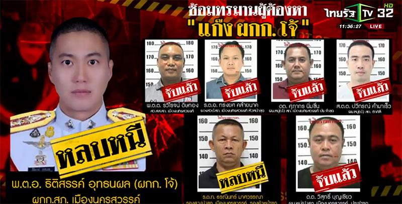 Seven Thai police officers arrested, includes Joe Ferrari (Thitisan Utthanaphon).