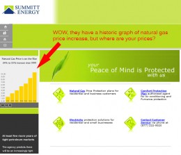 Summitt Energy Homepage 2007-2008 - No gas and electricity prices