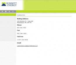 Summitt Energy Contact Page 2007-2008 - No gas and electricity prices
