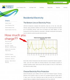 Summitt Energy Electricity Page 2009-2010 - No gas and electricity prices