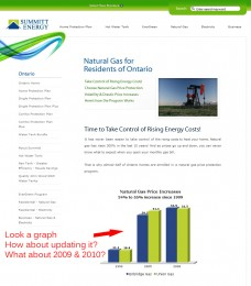 Summitt Energy Natural Gas Page 2009-2010 - No gas and electricity prices