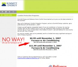 Summitt Energy Other Page 2007-2008 - No gas and electricity prices