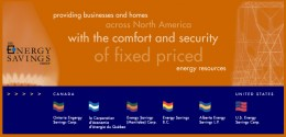 Energy Savings Group's website in 2004 to 2007 - no gas and electricity prices