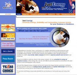 Just Energy's website in 2003 to 2007 - no gas and electricity prices