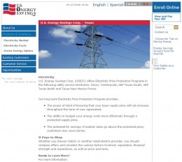 Just Energy's website in 2008 - no gas and electricity prices