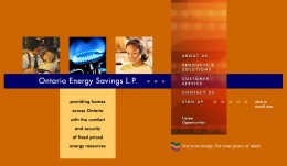 Ontario Energy Savings Group's website in 2002 to 2007 - no gas and electricity prices